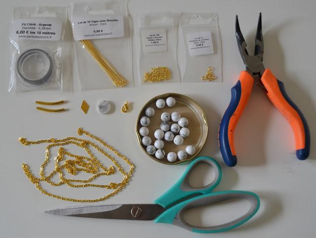 bijoux, marbre, DIY, mummyslittlegirl, la perle des loisirs