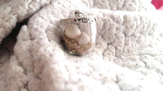 DIY, collier, sautoir, tutoriel, my little quail, coquillage, sable, la perle des loisirs