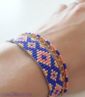 miyuki perles, bijoux, bracelet, com2filles, perledesloisirs