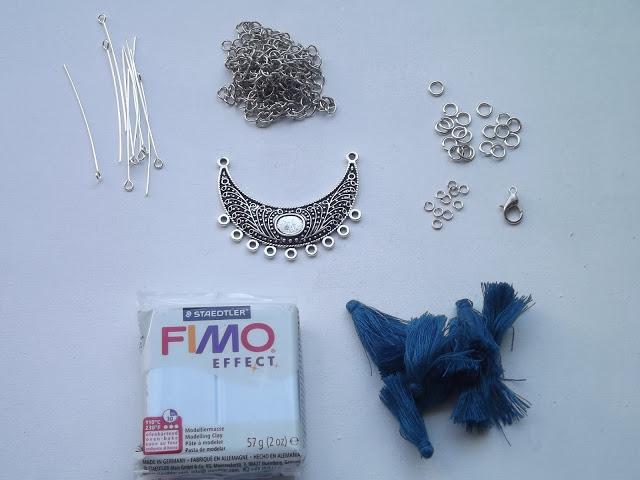 DIY, collier, lune, fimo, tutoriel, la revue du fil, perle des loisirs